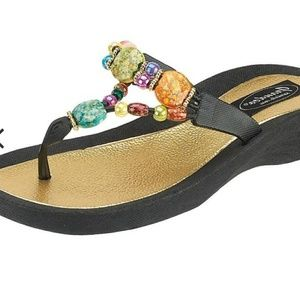 🍀Grandco Marble Deluxe Sandal Size 8